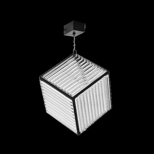 LED Ceiling Light   SKU: CHL-BLK-K9CUBE10X10